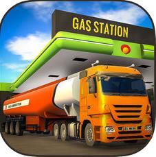 驾驶3D的石油运输卡车