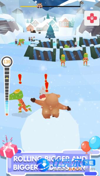 踩着雪球的熊熊图2