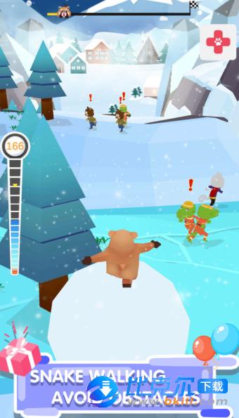 踩着雪球的熊熊图3