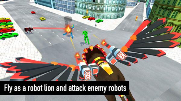 飞狮机器人战斗图1