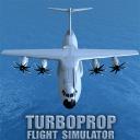 渦輪螺旋槳飛行模擬器3D