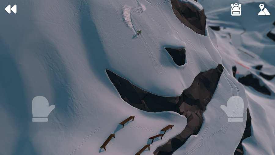 高山冒險滑雪圖3