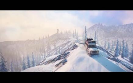 旋轉輪胎雪地奔馳圖1