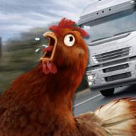 過馬路的雞