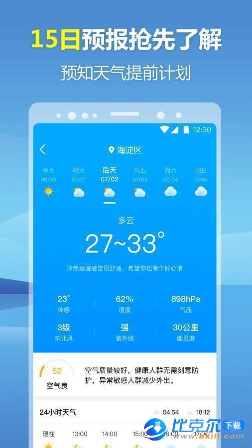 暖心天氣預報圖3