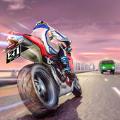 极端高速公路摩托车赛跑