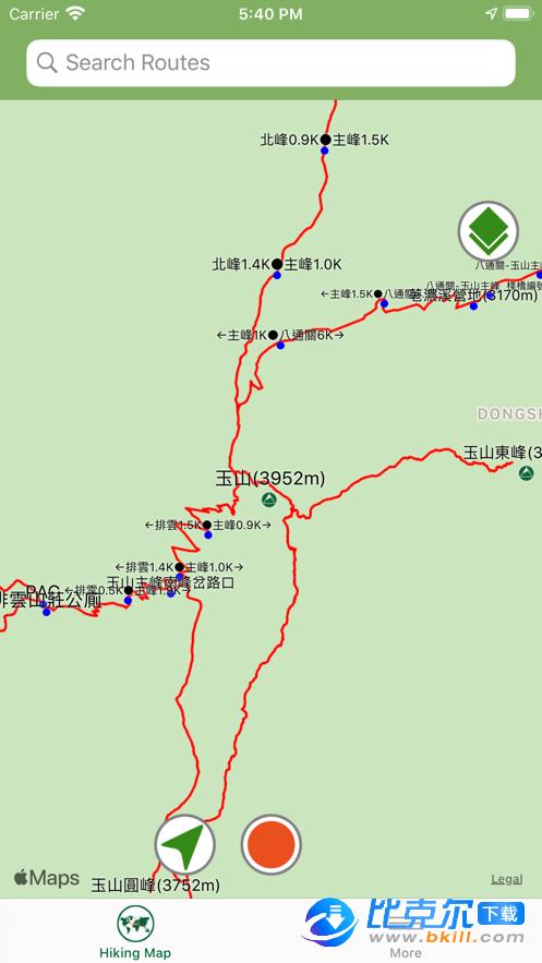 登山地图图3